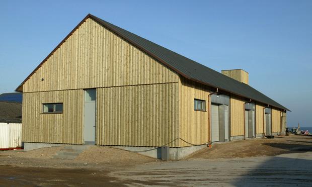 Det nye pakhus i Thorupstrand. Foto: Kirsten (Pipsen) Monrad Hansen